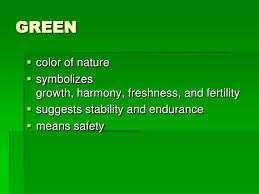 GREEN<br />color .