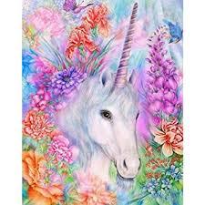 5D <b>Diamond Painting</b>, Full Drill <b>Unicorn</b> Crystals Embroidery <b>DIY</b> ...