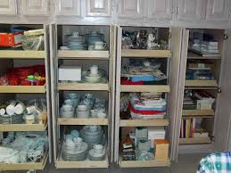 image of kitchen pantry cabinet sliding