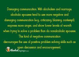 Alcoholic Quotes Mesmerizing Damaging Communication With Alcoholism And Marriage Alcoholic