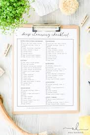 cleaning checklist cleaning checklist free printable a quick guide for deep cleaning