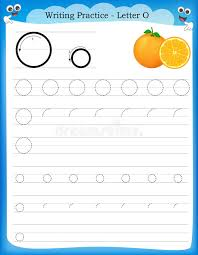 Writing practice letter O stock vector. Illustration of ...
