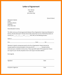 Letter Of Agreement Samples Template Fascinating Format Of An Agreement Letter Luxury Agreement Letter Templates 28