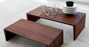 contemporary coffee table wooden rectangular by marc sadler glow in