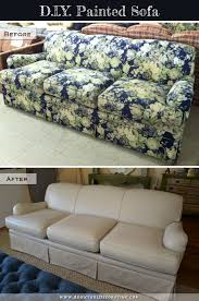 painting fabric furnitureI Painted My Sofa Before  After