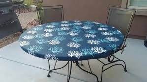 items similar to round fitted tablecloth in navy teal and