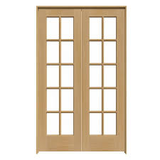 inspirational reliabilt solid core pine french interior door common 48 in 48