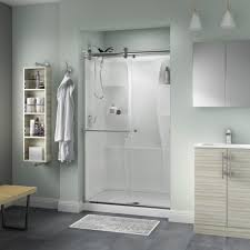 delta portman 48 in x 71 in semi frameless contemporary sliding shower door