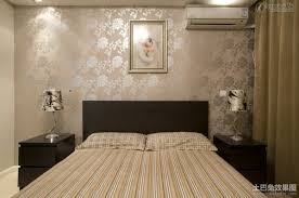 Patterned Wallpaper For Bedrooms Bedroom With Patterned Wallpaper Bedroom Designs Glass Lamps