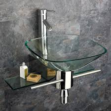 wall mounted sinks for small bathrooms. Glass Wall Mount Small Bathroom Sinks In Stone Tiles Mounted For Bathrooms