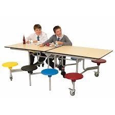 8 Seat Rectangular School Folding Table
