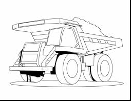 construction trucks coloring pages with incredible dump truck printable