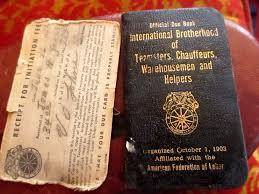 vtg 1953 teamsters local 784 nebraska warehou initiation card due book ebay