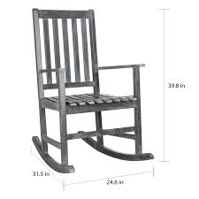 shop safavieh outdoor living barstow ash grey rocking chair on sale free shipping today overstockcom 11002125 grey rocking chair89