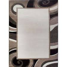 bazaar wavy border cream brown 8 ft x 10 ft indoor area rug