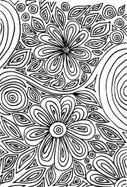 Small Picture Advanced Flower Coloring Pages Vintage Art Therapy Coloring Pages
