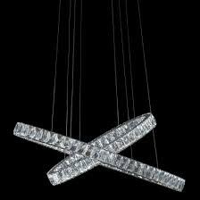 Crossover Led Lighting Aico By Michael Amini Lighting Crossover Led Chandelier