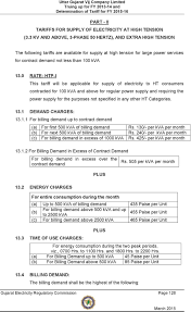 Ugvcl Light Bill Online Copy Download Annexure Tariff Schedule Tariff For Supply Of Electricity