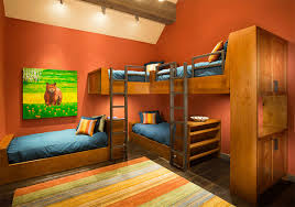 space saving four beds kids bedroom
