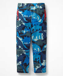 Mini Boden Blue Dino Lined Skate Trouser Pants Boys