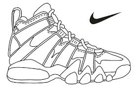 More alphabet coloring pages (what begins with. Jordan Shoes Coloring Pages Coloring Home