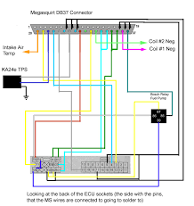 club s megasquirting one each of the switching wires connected to ca 115 positive and ms 37 gnd neg the switched on wire connected to ca 114 ca 106 positive