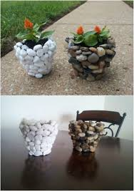 stone planters diy garden projects