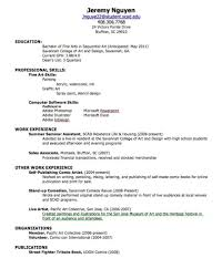 My First Resume Resume Builder