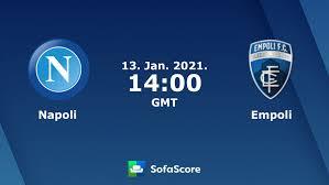 Napoli Empoli live score, video stream and H2H results - SofaScore