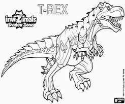 Kleurplaat T Rex Invizimals Shadow Zone Kleurplaten