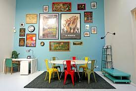 chairs in diverse colors and finishes are definitely a trendy choice in the eclectic dining room