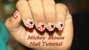 Easy Mickey Mouse Nail Art Tutorial (Polka Dots) - YouTube