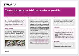 Research Poster Services Resources Eth Zurich