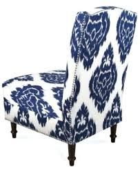 Blue Pattern Accent Chair Cool Accent Chair Blue Pattern Coaster Upholstered Accent Slipper Chair