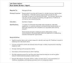 Travel Agent Job Description Custom Real Estate Sales Job Description Resume Creator Simple Source