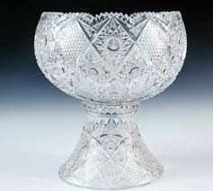 punch bowl american period brilliant cut glass punch bowl with base c 1890s