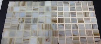 crystal glass grout reflects glass tile