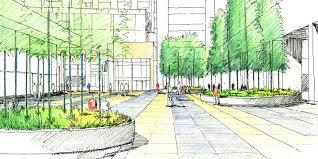 Landscape Design Presentation Board Johns Hopkins Broadway Research Facility Wagner Hodgson