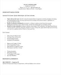 Entry Level Qa Analyst Resume Sample Tester Samples For Software