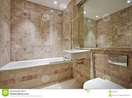 Sealing Bathroom Tile Contemporary Bathroom With Natural Stone Tiles Stock Image Image
