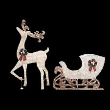 Home Accents Outdoor Christmas Decorations Home Accents Holiday 100 in LED Lighted Standing Deer with 100 in 6