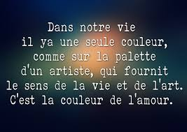 Citation Damour Et Couleur