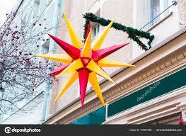 Traditionelle Deutsche Weihnachtsstern Stockfoto
