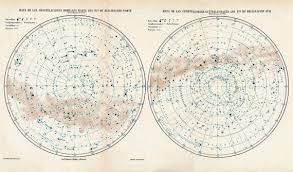 Star Charts For Southern Hemisphere Constellations Map Antique Star Chart Astronomy Northern