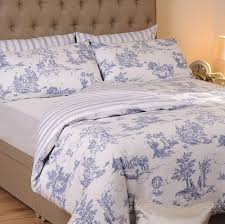 blue toile bedding