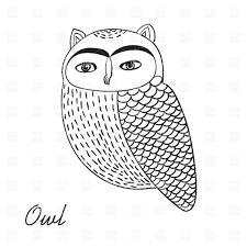 Cute Hand Drawn Owl Bird Illustration Stock Vector Image