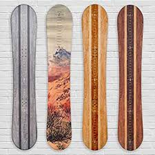 Amazon Com Growth Chart Art Wooden Snowboard Height Chart