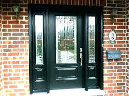 wood front door with sidelights side lights light glass replacement entry