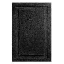 spa bath rug in black