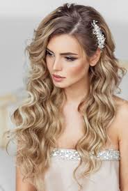 Hairstyle Brides elstile long wedding hairstyle pearls flowers and inspiration 3850 by stevesalt.us